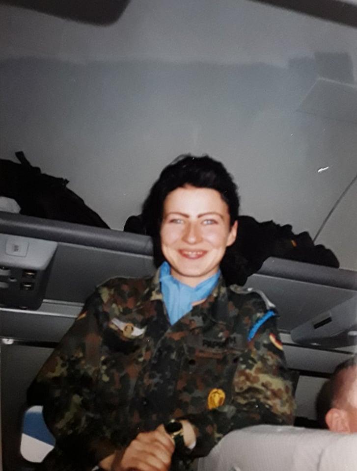 """Uta Paproth 1995 """"Flug in den ersten Einsatz – Trogir UN Mission"""""""