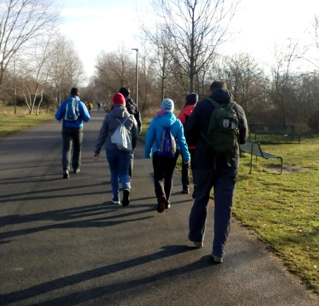 Gemeinsames Training mit der Marschsportgruppe der Sporthochschule Köln